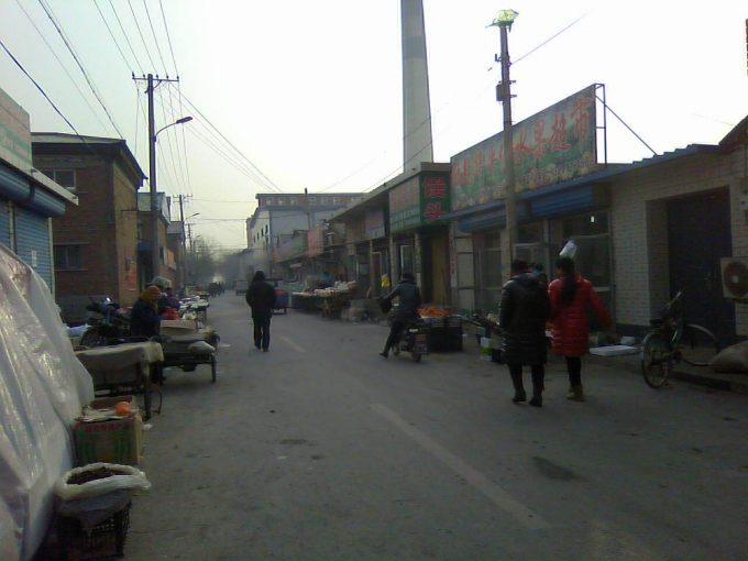 中国の田舎の路地裏